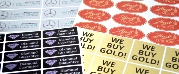 Metallic Stickers | www.stickersinternational.ie